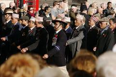 Парад день памяти погибших в первую и вторую мировые войны Стоковые Изображения