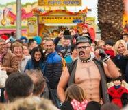 Парад масленицы 2013 SANTA CRUZ, ИСПАНИИ Стоковое Изображение RF