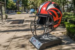Парад Мехико 2017 шарика NFL стоковые изображения