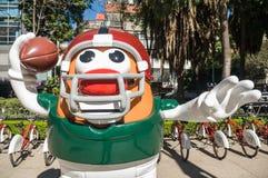 Парад Мехико 2017 шарика NFL стоковая фотография