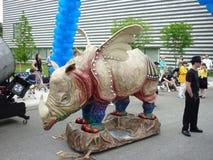 парад музея cleveland круга искусства стоковое изображение