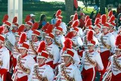 парад Небраски gator шара полосы маршируя Стоковое Изображение RF