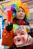 Парад Новый Год Chinatown лунный Стоковое Изображение RF