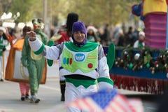 Парад официальный праздник в США в память первых колонистов Массачусетса H-E-B стоковые изображения