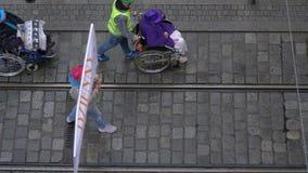 Парад пожилого гражданина видеоматериал