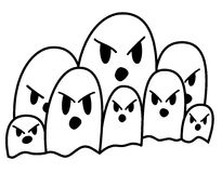 парад привидения Стоковое Изображение RF