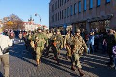 парад случая независимости дня Стоковые Изображения RF