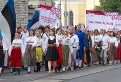 Парад торжества 2011 песни и танцульки Стоковая Фотография RF