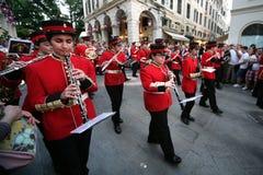 Парад улицы для пасхи на острове Корфу Стоковое Изображение RF