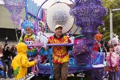 парад человека поплавка пузыря Стоковое Изображение