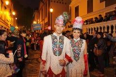 Парад через Макао, латинский город 2012 Стоковые Изображения