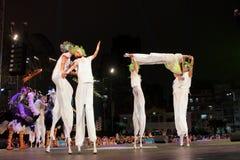 Парад через Макао, латинский город 2012 Стоковое Изображение RF