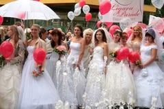 парад 2010 невест Стоковое Изображение