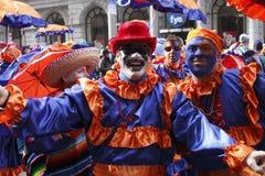 парад 2010 mummers стоковое фото