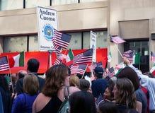 парад 2010 nyc дня columbus стоковые фотографии rf