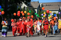 парад frankfort Мичигана Стоковые Изображения