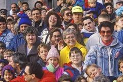 Парад Macy официальный праздник в США в память первых колонистов Массачусетса стоковое фото