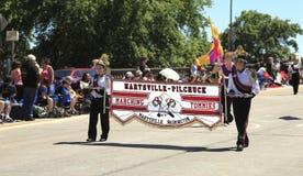 парад portland в июне празднества 12 ежегодников поднял Стоковое Изображение RF