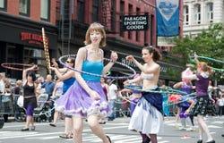 парад york 2010 танцек новый Стоковое Фото
