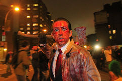 парад york halloween новый стоковое фото