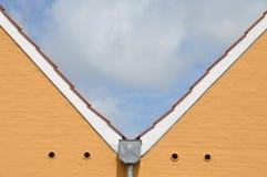 2 параллельных щипца дома Стоковая Фотография