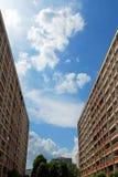 параллель снабжения жилищем hdb имущества стоковое фото