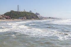 Параплан на горе маяка в пляже Torres Стоковые Изображения