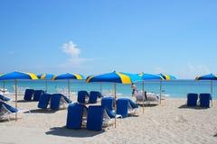 парасоли пляжа стоковое изображение