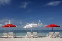 парасоли пляжа Стоковые Фото