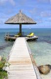 парасоль океана тропический Стоковые Фотографии RF