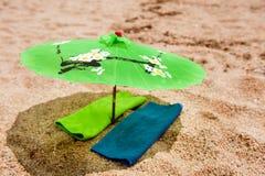парасоль пляжа тропический Стоковые Изображения