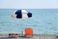 парасоль пляжа Стоковые Изображения RF