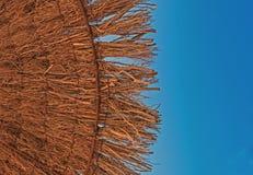 Парасоль пляжа, зонтик, горячий в тени Стоковое Фото