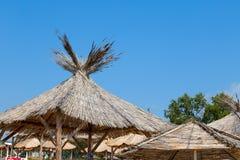 Парасоль пляжа неба Стоковые Изображения RF