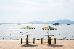 парасоль пляжа цветастый Стоковое Изображение RF