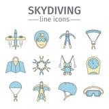 парашютировать skydiving Стоковая Фотография