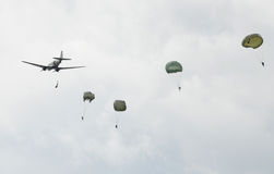 парашютисты Стоковая Фотография