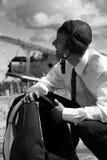 парашютист бизнесмена Стоковое Изображение RF