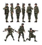 Парашютист солдата США Стоковое Изображение RF