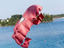 парашют пляжа Стоковые Фото