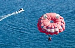 парашют пляжа Стоковое Изображение