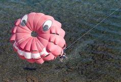 парашют пляжа Стоковая Фотография