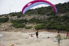 парашют человека Стоковая Фотография
