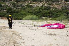 парашют человека Стоковые Фотографии RF
