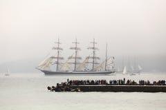 Парад ветрил на заливе Варны Стоковая Фотография RF