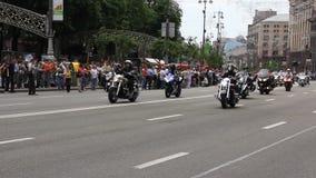 Парад велосипедистов видеоматериал