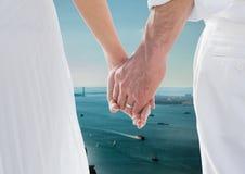 Пара вручает природу Стоковые Изображения RF