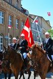 Парад всадников, Sonderborg, Дания Стоковая Фотография