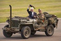 Парад Второй Мировой Войны 75th коммеморативный стоковые изображения