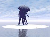 Пара в влюбленности Стоковые Изображения RF